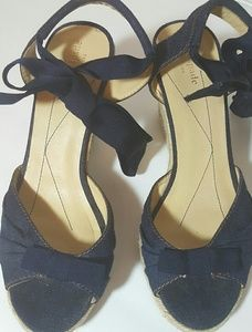 Kate Spade Lace-Up  Espadrille Wedge sz 8